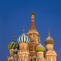 Top of St. Basil's Cathedral on Red Square Moscow Royalty Free Stock Photo