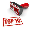 Top 10 Stamp Ten Best Approval Score Rating Review Royalty Free Stock Photo