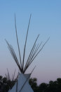 The Top of a Teepee Royalty Free Stock Photo