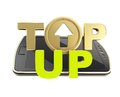 Top-up emblem icon over smart mobile phone concept Stock Images