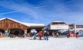 Top Verdons  lift station. Ski Resort Courchevel Royalty Free Stock Photo