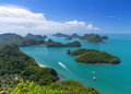 Top view of ang thong national marine park thailand Stock Photo