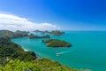 Top view of ang thong national marine park thailand Royalty Free Stock Photos