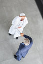 Top view of Arabian partner and manager Royalty Free Stock Photo