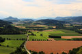 Top view of the Austrian fields Royalty Free Stock Photo