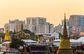 Top view of bangkok landscape in thailand Royalty Free Stock Photos