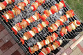 Top view of BBQ sticks Royalty Free Stock Photo
