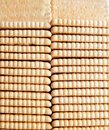 Top view of a biscuits in a row .Food photo studio photography Royalty Free Stock Photo