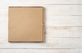 Top view of blank pizza box Royalty Free Stock Photo