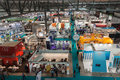 Top view of booths and people at host in milan italy october international exhibition the hospitality industry on october Stock Photography