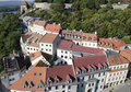The top view of the Bratislava old town