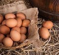 Brown Eggs in a Basket Royalty Free Stock Photo