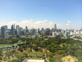 Top view building landscape city blue sky bangkok thailand Royalty Free Stock Photos