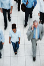 Top view of business executives walking Royalty Free Stock Photography
