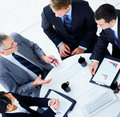 Top view of a business meeting Stock Photo