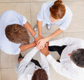 Top view of business people with a hands together Stock Image