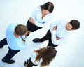 Top view of business people in the office Stock Photo