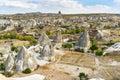Top view of cave houses. Goreme. Cappadocia. Turkey Royalty Free Stock Photo