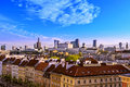 Top view of the center of Warsaw. Royalty Free Stock Photo