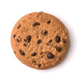 Top view of chocolate chip cookie Royalty Free Stock Photo