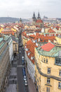 Top view citiscape of prague Royalty Free Stock Photo