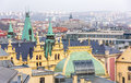 Top view citiscape of prague Royalty Free Stock Photography