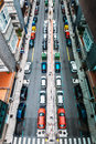 Top view on city street Royalty Free Stock Photo