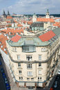 Top view cityscape on old Prague district Royalty Free Stock Photography