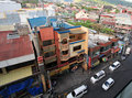 Top view of clark in philippines street from located Stock Photography