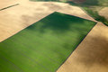 Top view of the countryside aerial with fields crops in summer Royalty Free Stock Photos