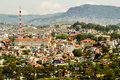 Top view in dalat city vietnam landscape Royalty Free Stock Image
