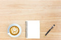 Top view desk top with office items hero image design header wit Royalty Free Stock Photo