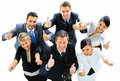 Top view of executives smiling Royalty Free Stock Photo