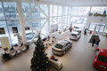 Top view of the foyer with a reception and cars moscow jan volkswagen varshavka center january moscow russia building Royalty Free Stock Image