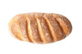 Top view of french loaf bread isolated on white background Stock Images