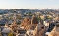 Top view of Goreme town. Cappadocia. Turkey Royalty Free Stock Photo