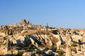 Top view of Goreme town in the morning. Cappadocia. Turkey Royalty Free Stock Photo