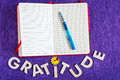Top View of Gratitude Journal Royalty Free Stock Photo