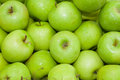 Top view of green apple Royalty Free Stock Photo