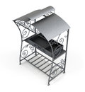 Top view of the grill under the roof Royalty Free Stock Photo