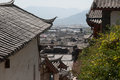 Top view of historic town of lijiang dayan old town is a famous in china inhabited by the naxi ethnic minority people in city Stock Photo