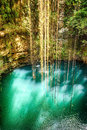 Top view of Ik-Kil Cenote, near Chichen Itza, Mexico. Stock Photography