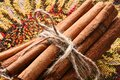 Tied Cinnamon Bundle Royalty Free Stock Photo