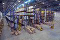 Top view of interior area the warehouse. Royalty Free Stock Photo