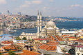 Top view of istanbul from roofs turkey Stock Photo