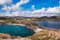 Top view of the Kalafatis beach of Mykonos against sky Royalty Free Stock Photo