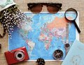 Planning a trip or adventure. dollars money background.Financial concept.Travel planning dreams. Royalty Free Stock Photo