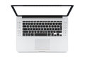 Top view of modern laptop with English keyboard Royalty Free Stock Photo