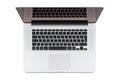 Top view of modern retina laptop. Royalty Free Stock Photo