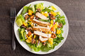 Top view of Orange Walnut Chicken Salad Royalty Free Stock Photo